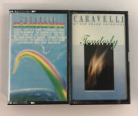 Lot of 2 Caravelli Cassette Tapes - Tenderly - Rainbow