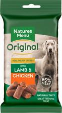 Natures Menu- 3 packs of Real Lamb mini dog treats- Made with 95% REAL MEAT