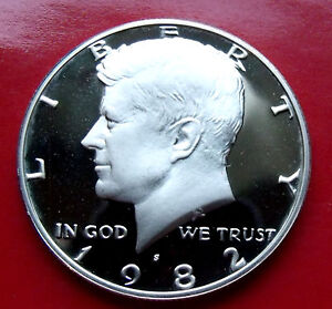 Proof Gem 1982 S Kennedy Half Dollar,  Frost, Hints of Tone throught, w/ Holder.