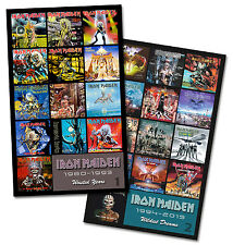 "IRON MAIDEN twin pack discography magnet set (two 3.75"" x 4.75"" magnets)"