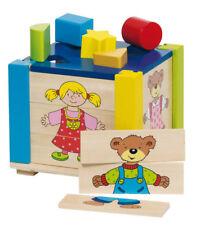 PUZZLEKISTE aus Holz Steckbox Formenkiste Sortierbox Puzzlebox Steckspiel NEU