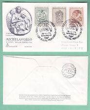 ITALIA BUSTA PRIMO GIORNO CAPITOLIUM VIAGGIATA 1975 MICHELANGELO CAPRESE FDC