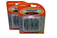 8 x AA 2500mAh low self-discharge Rechargeable batteries Vapextech