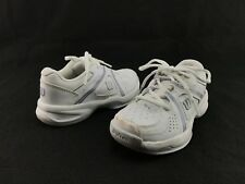 NEW Wilson Envy Jr Kids White Pearl Gray Lace Sport Tennis Sneakers US 13 B162