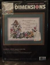 Dimensions Stamped Cross Stitch Kit Flowery Verse Family Love Home #3160 NIP