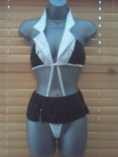 French maid outfit Black/White, Cotton Blend and One Size
