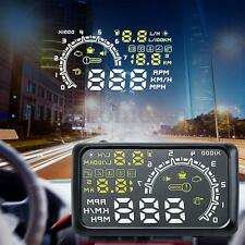 "5.5"" Car HUD Head Up Display OBD II OBD2 Projector Speed Warning System"