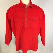 Rare Vintage Marlboro Red Corduroy 90s Grunge Surf Skate Pulloever Work Shirt XL