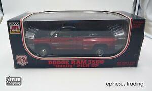 1995 JRL Dodge RAM 3500 Dually V10 Pickup Truck Black-Red w/Gray 81800 1/18 MINT