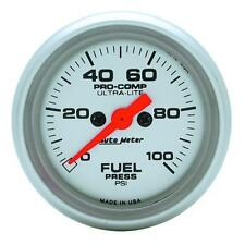 UNIVERSIAL DODGE FORD CHEVY AUTO METER  4363 ULTRA-LITE FUEL PRESSURE GAUGE.