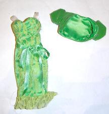 Barbie Fashion Light Green Lace Dress/Bolero For Model Muse Dolls fn138