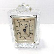 Vintage Crystal Clear Quartz Mantel Clock 24 % Lead Crystal C. 70's