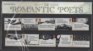2020  The Romantic Poets Presentation Pack 584 - Ref:5626