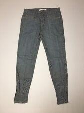 Joe's Jeans Ankle Zip Chelsea Striped Denim Look Size 26 Inseam 27 NWOT