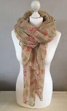 Ladies Beautiful Ivory Floral Design Scarf,Headscarf