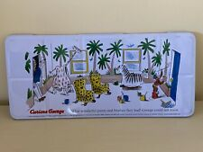 Curious George Watercolor Paint Set 36 Colors With Brushes in Tin Holder