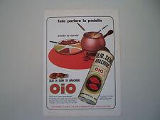 advertising Pubblicità 1972 OLIO DI SEMI OIO
