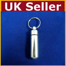 Keyring For Tablets Medicine Container Pill Box Aluminium Key Chain Drug Holder