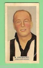 1930 VICTORIAN FOOTBALLERS CARD, HOADLEYS CHOCOLATE #36 S. COVENTRY, COLLINGWOOD