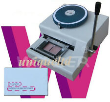 Hot Sale Manual Handworked 36 Code Indent Machine Magnetic ID PVC Cards