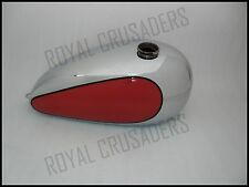 NEW TRIUMPH T120/TR6 BONNEVILLE CUSTOM RED PAINTED CHROME PETROL TANK @PUMMY