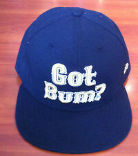 Bleacher Bum Collectibles Hat Cap New Era 7 3/8 Fitted 59Fifty Black Gold Custom