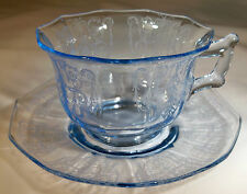 CAMBRIDGE CLEO WILLOW BLUE DECAGON CUP & SAUCER SET!