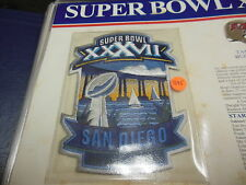 '03 Super Bowl Xxxvii Replica Patch With Game Nfl Football Notes Bucs Raiders
