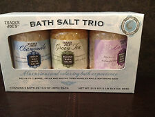 TRADER JOE'S Bath  Salt  Trio~Chamomile~Green Tea~Lavender~Holiday offering~