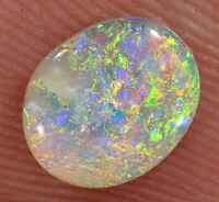 AUSTRALIAN OPAL L/Ridge Solid Crystal N8 Nice Bright fires 0.6cts #BT2691 VIDEO