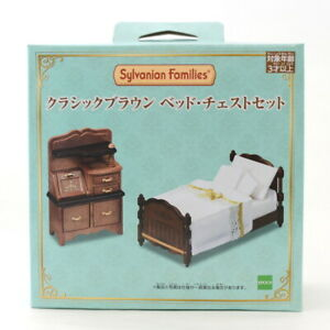 Sylvanian Families CLASSIC BROWN BED CHEST SET Calico Critters 14193 Japan