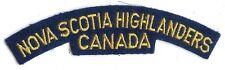 Canadian Army Nova Scotia Highlanders Battle Dress Shoulder Flash