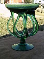 Jozefina Krosno Poland Art Glass Sculpture  Compote / Bowl -