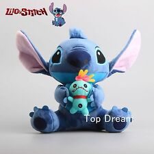 Genuine Lilo & Stitch with SCRUMP Plush Doll Soft Stuffed Animal Toy 10'' Teddy