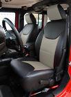 Jeep Wrangler Jk 2013-2018 4doors Blackgrey S.leather Frontrear Seat Covers