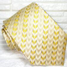 Cravatta Oro geometrica Nuova  100% seta Top quality realizzata a mano marca TRE