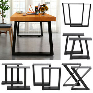 Pair of Metal Steel Legs Industrial Style Base Frame For Dining Table Desk Bench