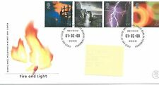 Recuento de leucocitos. - GB-Primer Día Cubierta Fdc-Commems -2000 - feb-Fire & Light-PMK pb
