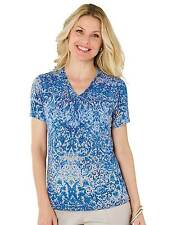 Women's Plus Size Polyester V Neck Tops & Shirts