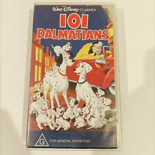 Disney Classic 101 Dalmatians VHS Video Casette Walt Disney