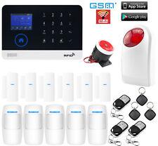 B25 WiFi APP GSM SMS RFID Wireless Kits Home Security Alarm System+Strobe Light