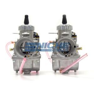 Genuine Real Mikuni 34mm Round Slide Right & Left Side Carburetor Set VM34-LR