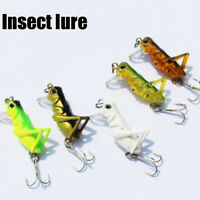 Plastic Hard Crank Grasshopper Crankbait Bionic Bait Insects Fishing Lure