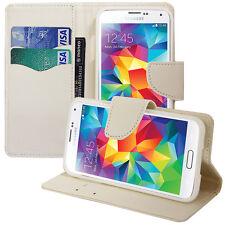 Funda Carcasa Cartera Efecto Tela BLANCO Samsung Galaxy S5 V G900F/ Duos/ Plus
