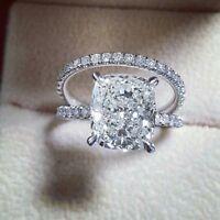 Certified 3.50Ct Cushion Diamond Awesome Engagement Wedding Ring 14K White Gold