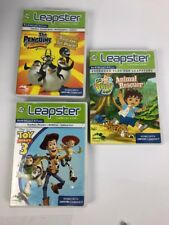 Bundle 3 X Leapster Leapster2 Toy Story 3, Penguins Of Madagascar Go Diego Go VG