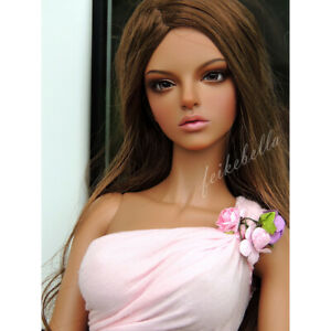 1/4 BJD Girl Dolls Sexy Female Naked Unpainted Body Doll + Eyes + Face Makeup