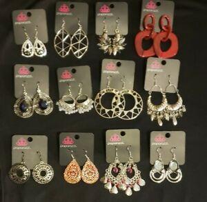 Paparazzi Jewelry Lot Of 12 Earrings