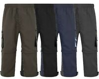 MENS 3/4 SHORTS 2 IN 1 CARGO COMBAT ZIP OFF SUMMER JOGGING CASUAL TROUSERS M L X