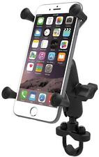 RAM Mount Motorcycle Handlebar Rail Mount X-Grip Cell Phone Holder iPhone 7, 7+